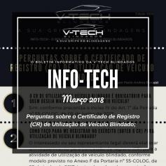Março 2018 – Perguntas sobre o Certificado de Registro (CR) de Utilização de Veículo Blindado